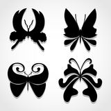 Butterfly icons set great for any use. Vector EPS10. Stock Photos