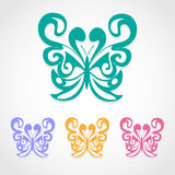 Butterfly icons set great for any use. Vector EPS10. Royalty Free Stock Images