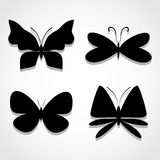Butterfly icons set great for any use. Vector EPS10. Royalty Free Stock Photos
