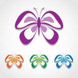Butterfly icons set great for any use. Vector EPS10. Stock Photo