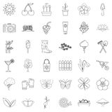 Butterfly icons set, outline style. Butterfly icons set. Outline style of 36 butterfly vector icons for web isolated on white background Stock Image