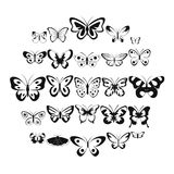 Butterfly icons set, simple style. Butterfly icons set. Simple illustration of 25 butterfly vector icons for web Royalty Free Stock Images