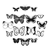 Butterfly icons set, simple style. Butterfly icons set. Simple illustration of 16 butterfly vector icons for web vector illustration