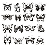 Butterfly icons set, simple style Stock Photos