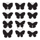 Butterfly icons Stock Photography