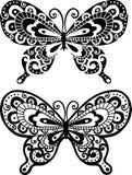 Butterfly Illustration. Decorative Butterfly Illustration- Includes both positive & negative versions stock illustration