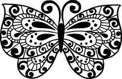 Butterfly Illustration. Decorative Hand Drawn Butterfly Illustration2 Royalty Free Stock Image