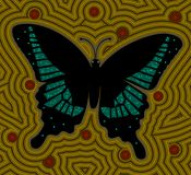 Butterfly. A illustration based on aboriginal style of dot painting depicting butterfly stock illustration