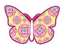Butterfly Illustration with flower wings Stock Photography