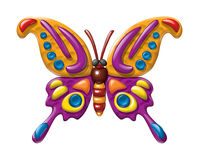 Butterfly illustration plasticine figurines Royalty Free Stock Image