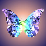 Butterfly. The image of the butterfly executed in the form of a crystal stock illustration