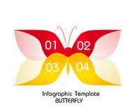 Butterfly infographic template for four steps Stock Images