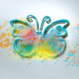 Butterfly. With inside and painted and colored Stock Photos