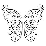 Butterfly isolate stylish decorative graphically Royalty Free Stock Photo