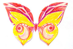 Butterfly isolated handmade Royalty Free Stock Images