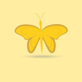 Butterfly isolated object on a yellow background Stock Photo