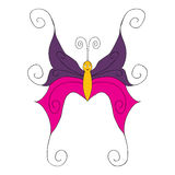 Butterfly isolated outlinescharacter multicolored Royalty Free Stock Photography