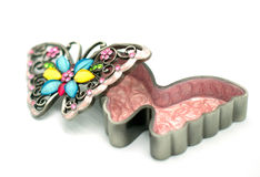 Butterfly jewelry box Stock Images