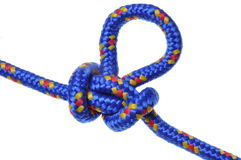 Butterfly knot blue rope Royalty Free Stock Photos