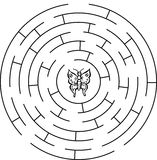 Butterfly labyrinth, maze. Stock Image