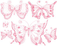 Butterfly lace. Royalty Free Stock Images