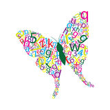 Butterfly letters Royalty Free Stock Photography