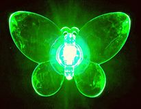 Butterfly green. Butterfly light green Stock Photos