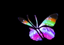 Butterfly Light Painting Image Stock Photo