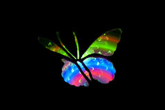 Butterfly Light Painting Image Royalty Free Stock Photos