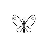 Butterfly line icon, spring easter elements stock illustration