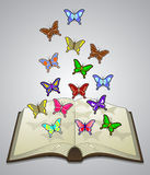 Butterfly literature Royalty Free Stock Image