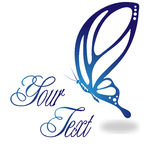 Butterfly Logo. Beautiful stylized butterfly logo Illustration. Also in vector format Royalty Free Stock Photography
