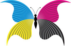 Butterfly logo. Illustration art of a butterfly logo with isolated background Stock Photos
