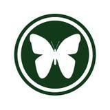 Butterfly logo royalty free illustration