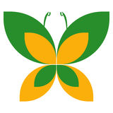 Butterfly logo Royalty Free Stock Photography