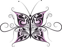 Butterfly logo design Stock Images