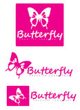 Butterfly logo Stock Images