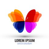 Butterfly.  Logo, icon, sign, emblem, template Royalty Free Stock Photos