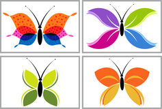Butterfly logo Royalty Free Stock Photo