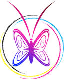 Butterfly logo Royalty Free Stock Image