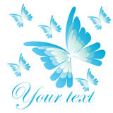 Butterfly logo. Illustration of a blue butterfly logo Royalty Free Stock Image