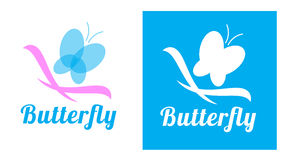 Butterfly logo set Royalty Free Stock Photography