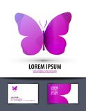 Butterfly. Logo, sign, icon, emblem, template, Stock Photography