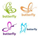 Butterfly Logo Template Stock Photo
