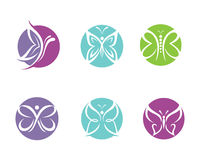 Butterfly Logo Template Stock Photos