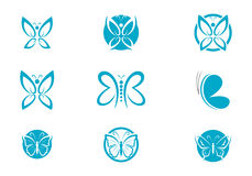 Butterfly Logo Template Stock Images