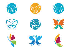 Butterfly Logo Template Stock Photography