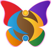 Butterfly logo stock illustration