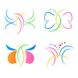 Butterfly logos Royalty Free Stock Photos