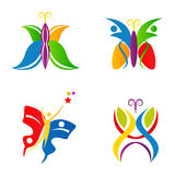 Butterfly logos Stock Image